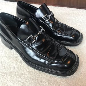 GUCCI horsebit loafer black with silver hardware